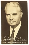 John Bricker Governor of Ohio Postcard