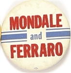 Mondale and Ferraro Cloth Covered Pin
