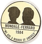 Mondale, Ferraro Mirror on America Rare Silhouette Version