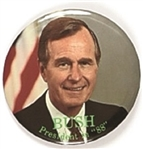 George H.W. Bush Colorful 3 Inch Celluloid