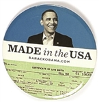 Obama Made in the USA