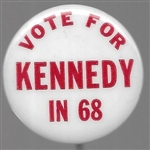Vote for Kennedy in 68