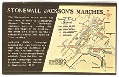 Stonewall Jacksons Marches Postcard