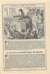 Morning, Noon and Night 1872 Almanac with Victoria Woodhull Satire Cartoon