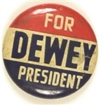 Dewey for President Red, White, Blue Litho