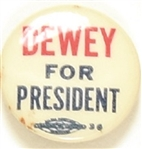 Dewey for President Unusual Small Celluloid