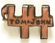 Dewey, Tom and John 44 Wood Pin