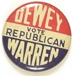 Dewey, Warren Vote Republican Litho