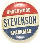 Stevenson, Sparkman, Underwood West Virginia Coattail
