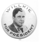Willkie for President Celluloid Picture Pin