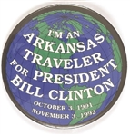Arkansas Traveler for President Bill Clinton
