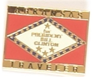 Clinton Arkansas Traveler Lapel Pin