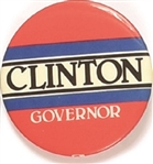 Clinton for Governor Red Celluloid