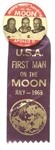 First Man on the Moon Pin, Ribbon