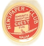 Newspaper Club 1924 Democratic National Convention Guest Pin