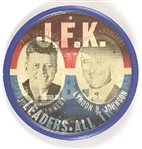Kennedy, JFK and LBJ Rare Our Leaders All the Way Flasher