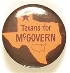 Texans for McGovern Rare Orange Map of USA Version