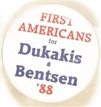 First Americans for Dukakis, Bentsent