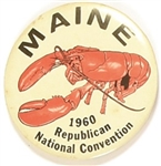 Nixon Maine 1960 Convention Lobster Pin