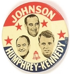 Johnson, Humphrey, Robert Kennedy New York Coattail