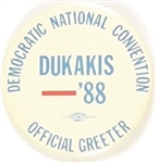 Dukakis Convention Official Greeter