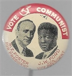 Foster, Ford Rare Communist Party Jugate