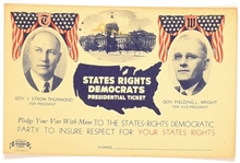 Thurmond, Wright States Rights Party Postcard