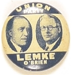 Lemke and OBrien Union Party Jugate