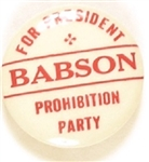 Babson Prohibition Party