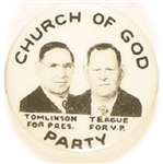 Tomlinson, Teague Church of God Party