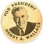 Henry Wallace for President Largest Size Celluloid