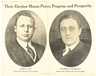 Cox, Roosevelt Peace, Progress and Prosperity Poster