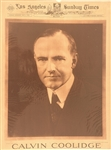 Calvin Coolidge Los Angeles Sunday Times Poster