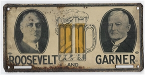 Roosevelt, Garner Beer License Plate