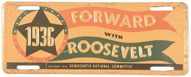 Forward With Franklin Roosevelt 1936 License