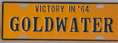 Victory in '64 Goldwater License