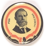 Hughes for President Rare 1 1/4 Inch Celluloid