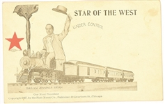 Bryan Star of the West Railroad Postcard:
