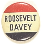 Roosevelt and Davey Ohio Coattail