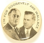 Roosevelt, Wallace Scarce Celluloid Jugate