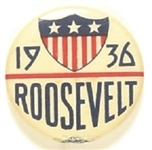 Roosevelt 1936 Shield Celluloid