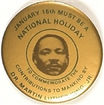 Martin Luther King National Holiday