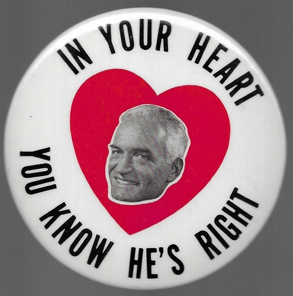 Goldwater In Your Heart Picture Pin