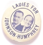 Ladies for Johnson-Humphrey Blue Letters and Photo
