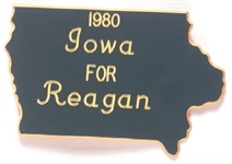 Iowa for Reagan 1980 Pinback