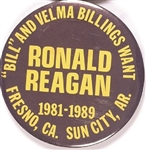 Bill and Velma Billings Want Ronald Reagan