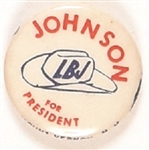 Johnson for President Stetson Hat Celluloid