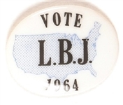Vote LBJ in 1964 USA