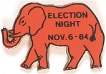 Reagan 1984 Election Night Red Elephant