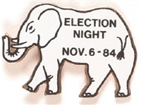 Reagan 1984 Election Night White Elephant